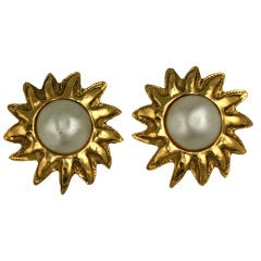 Chanel Sunburst Earrings
