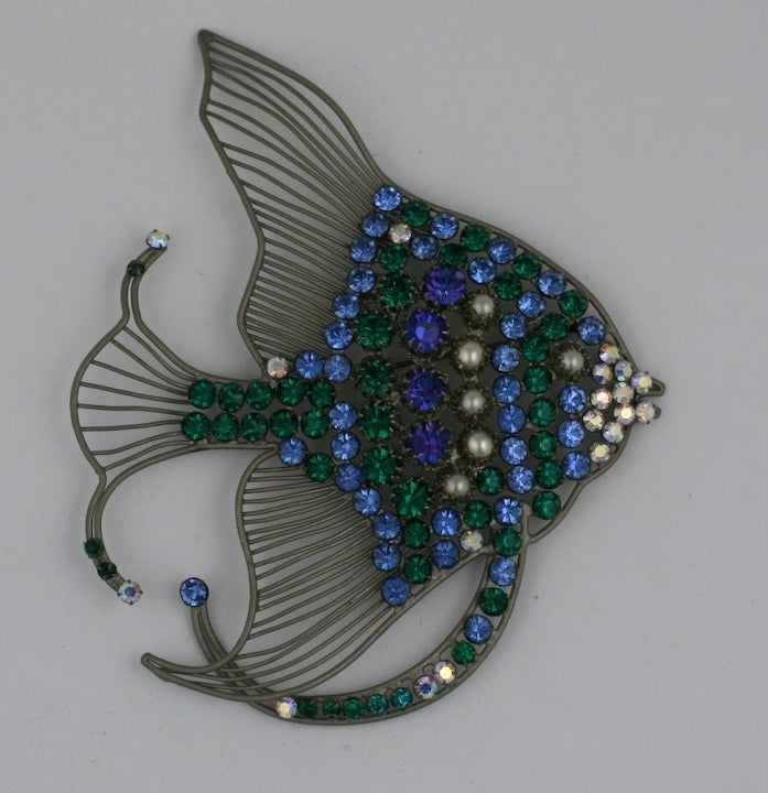 Rare Monumental Countess Cis Angel Fish Brooch 2