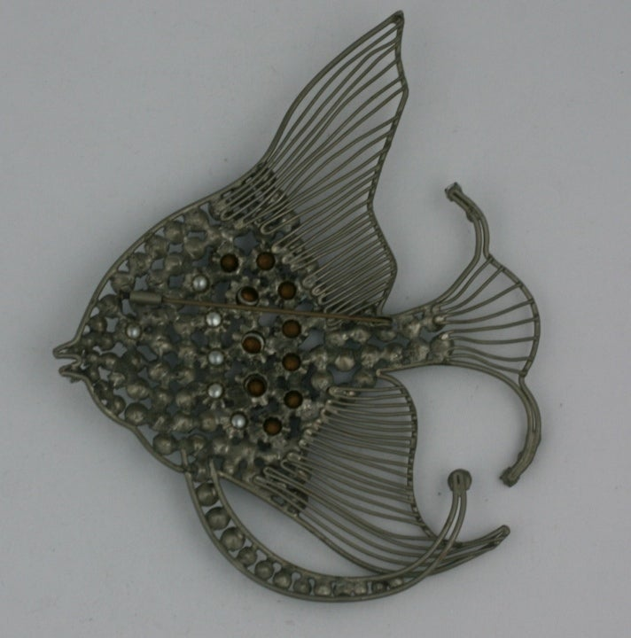 Rare Monumental Countess Cis Angel Fish Brooch 3