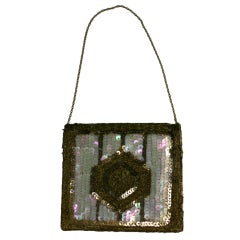 French Deco Sequinned Mini Purse