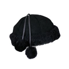 Burberry Black Shearling Cap