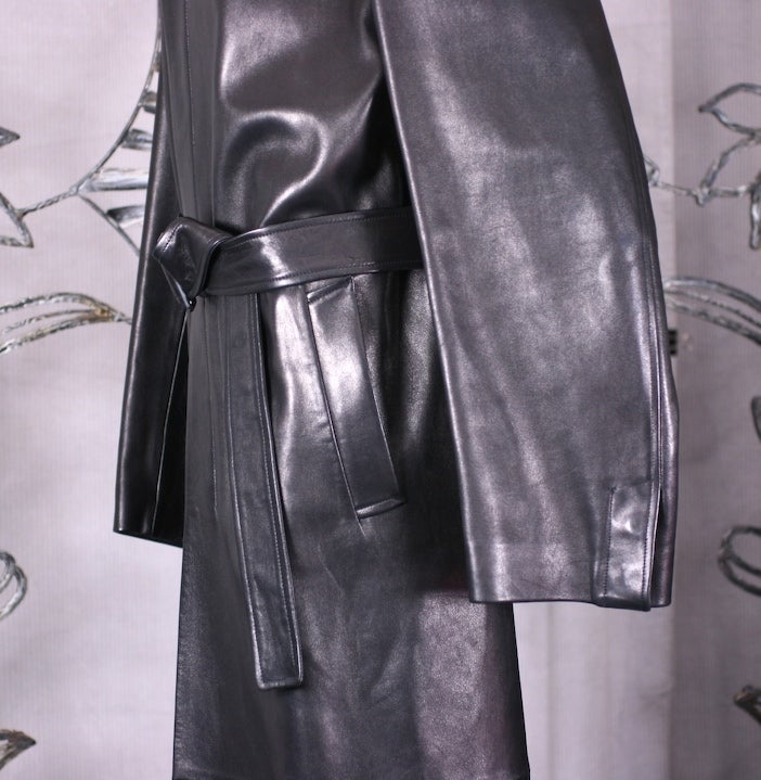 Luxurious jil sander mens leather trench at 1stdibs