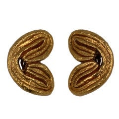 Isabel Canovas Gilt  Palmier Earclips