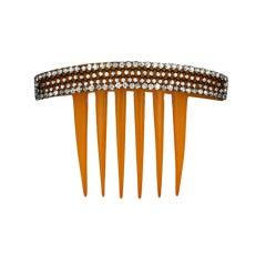Paste Set Victorian Comb