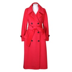 Cherry Cashmere Double Breasted Coat
