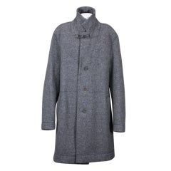 Issey Miyake Mens Felted Wool Charcoal Wool Coat