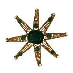 Rare Countess Cis Coiled Star Brooch