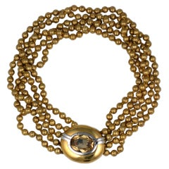 Ciner Gold Bead Necklace