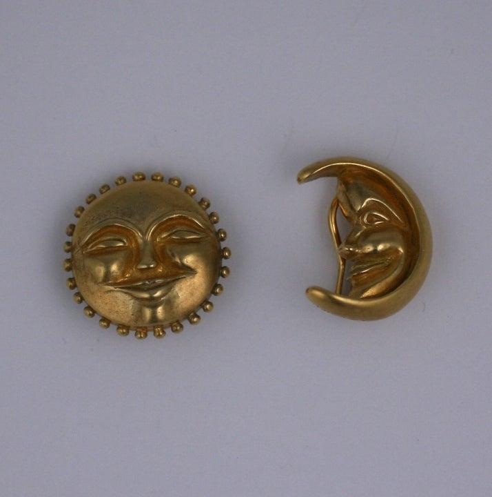 sun and moon earrings at 1stdibs