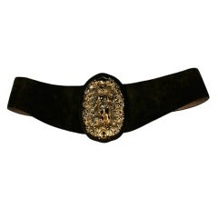 Diana Huntress Gilt Suede Belt