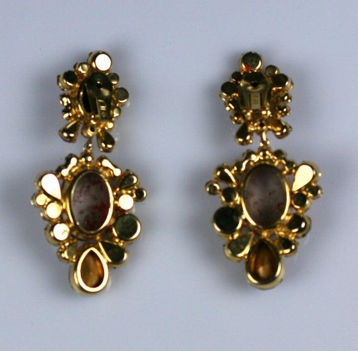 Women's Kenneth Jay Lane Ruby Amythest Earrings For Sale