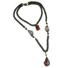 Miriam Haskell Agate Double Necklace