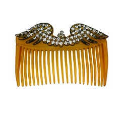 Edwardian  Paste Wing Hair Comb