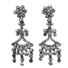 French Cut Steel Dangle Earrings
