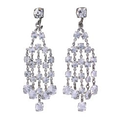 Art Deco Crystal Earrings