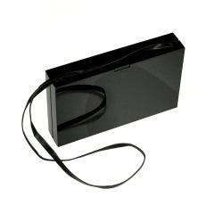 YSL Black Resin Clutch