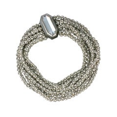 Pave Rhinestone Ball Statement Collar