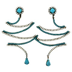 Kenneth Jay Lane  Sculptural Long Earrings