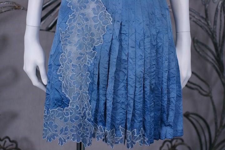 Gianni Versace Silk and Lace Denim Effect Mini 5