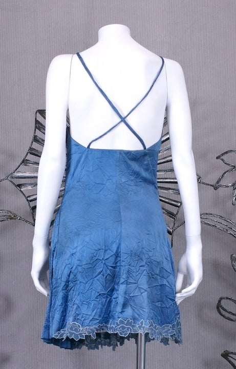 Gianni Versace Silk and Lace Denim Effect Mini image 6