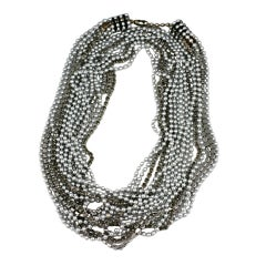 Ball Chain and Pave Rope Necklace