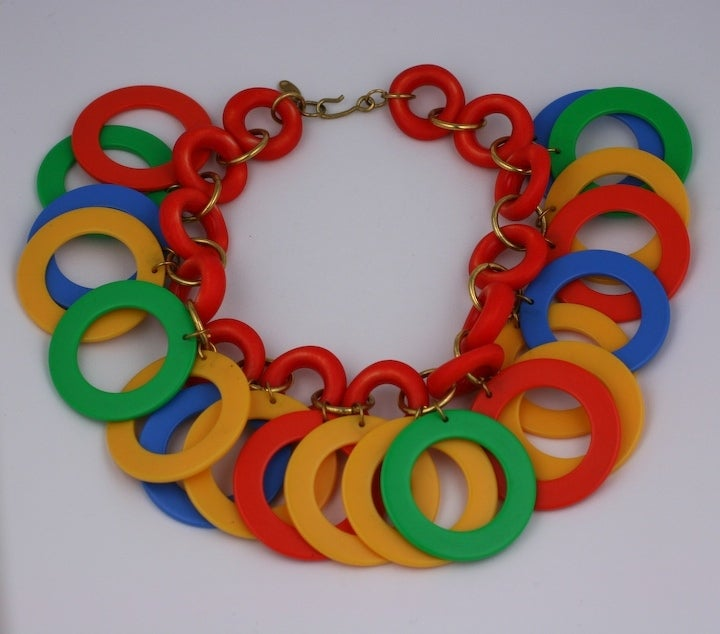 Miriam Haskell Tropical Hoop Necklace 2