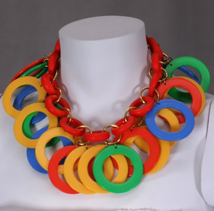 Miriam Haskell Tropical Hoop Necklace 3