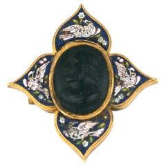 Victorian Micromosaic Cameo Brooch