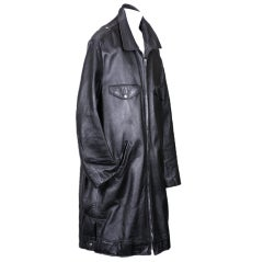Amazing Sprouse Men's Elongated Leather Moto Jacket.