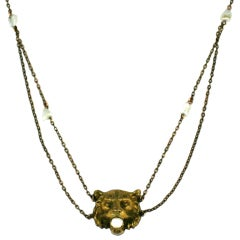Victorian Tiger Festoon Necklace