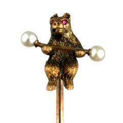 Victorian Circus Bear Stickpin