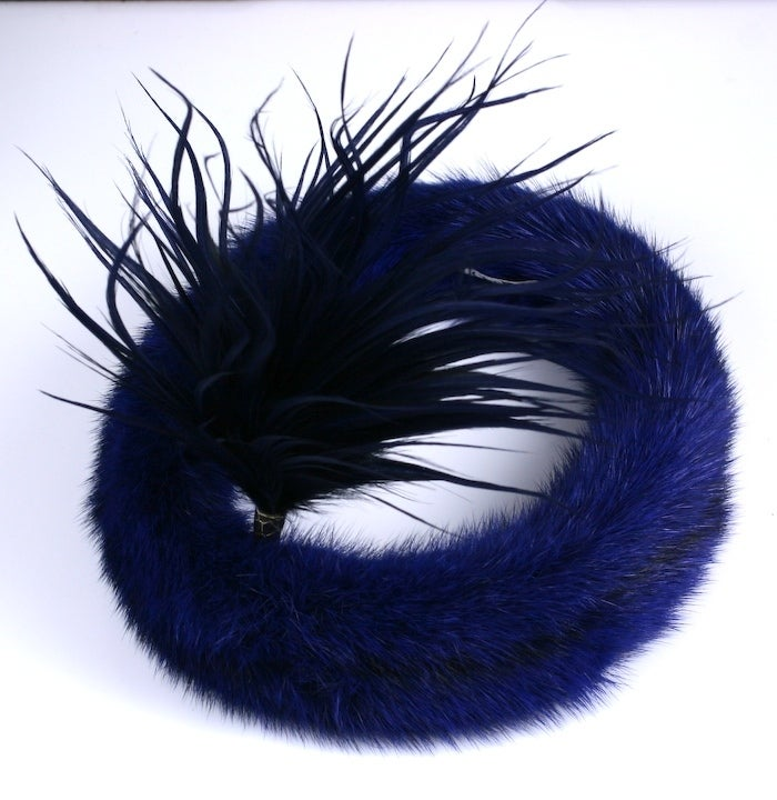Christian Dior Haute Couture Mink Head Piece 3
