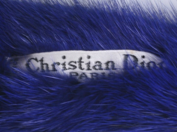 Christian Dior Haute Couture Mink Head Piece In Excellent Condition For Sale In Riverdale, NY