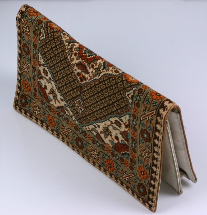 6c8a152da69b ... Gucci Rugs Sale: Rug Patterned Needlepoint Clutch For Sale At 1stdibs