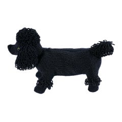 Charming Beaded Poodle Purse