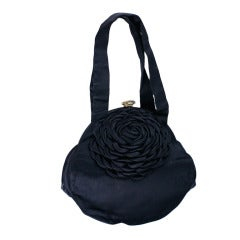1940's Satin Flower Bag