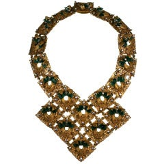 Miriam Haskell Filigree, Glass and Paste Collar