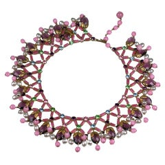 Unusual Jewelled and Beaded Collar