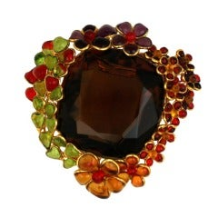 Ombre Poured Glass Floral Brooch, MWLC