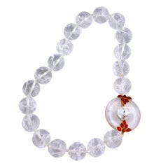 Rock Crystal Chinese Clasp Necklace, MWLC