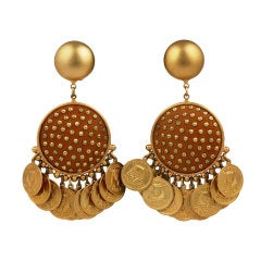 Leather Studded Gypsy Dangle Earrings