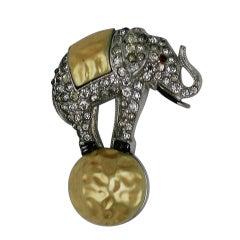 Alfred Phillipe for Trifari Deco Circus Elephant