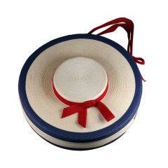 "Figural Italian Straw ""Hat"" Bag"