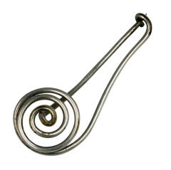 French Modernist Coil  Brooch