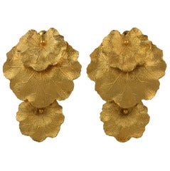 Les Bernard Articulated Leaf Earrings