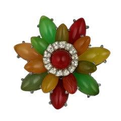 Unusual Bakelite Flower Brooch