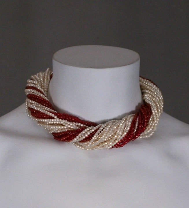 Ruby and Pearl Torsade Necklace 3