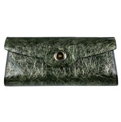 1950's Bakelite Tinsel Shot Seaweed Green Clutch