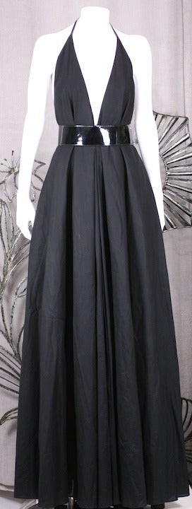 YSL Iconic Halter Gown 2