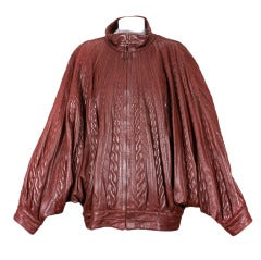Christian Dior A/W 83 Haute Couture Leather Jacket